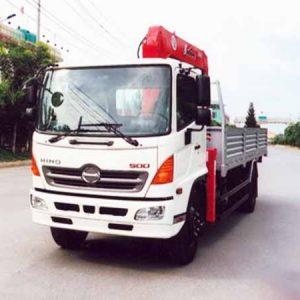 xe tải hino gắn cẩu unic 5 tấn