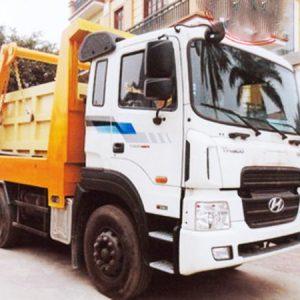 xe tải hyundai HD270 chở bùn