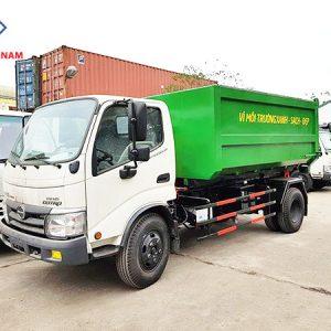 xe chở rác 6 khối Hino Wu342L